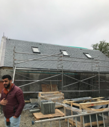 Building work at the mosque in Stornaway