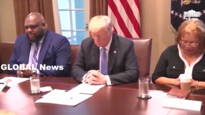 The moment Donald Trump prayed with pastors and called Christians 'special'