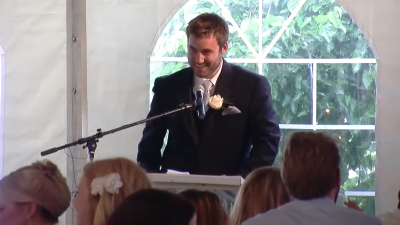 Brother of the groom delivers the funniest wedding speech