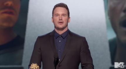 Chris Pratt uses awards night to tell teenagers to love God