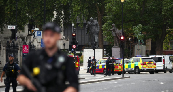 Westminster car crash treated as terrorist incident, police say