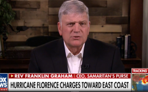God didn't send Hurricane Florence because He is mad, says Franklin Graham