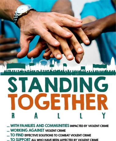 standing together rally