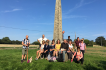 andrew-kelly-and-pilgrims-at-st-augustines-cross-ebbsfleet