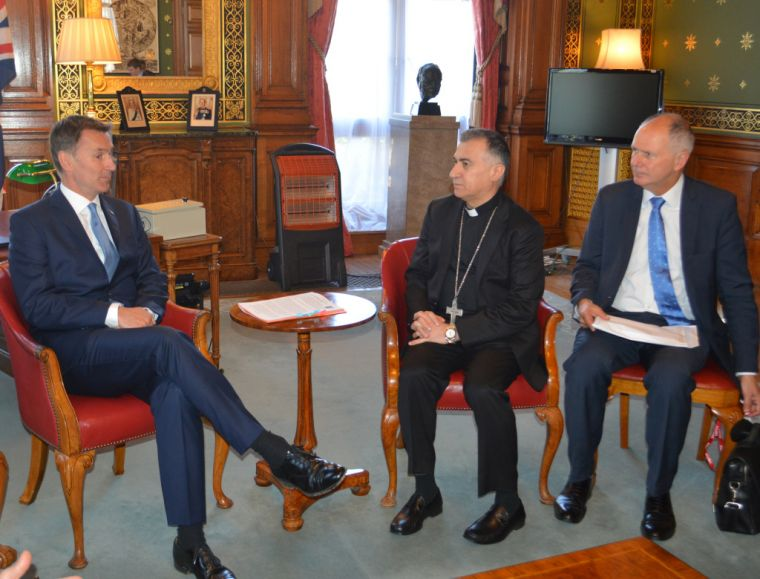 Archbishop of Irbil with Jeremy Hunt