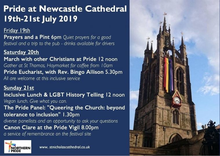 Pride at Newcastle Cathedral
