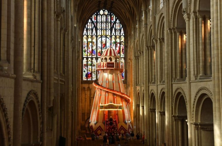 Helter Skelter norwich cathedral