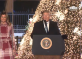 'Jesus Christ inspires us to love one another,' says Trump at National Tree Lighting Ceremony