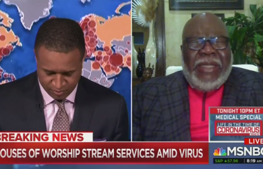 News anchor asks TD Jakes to pray to God live on air for help with coronavirus pandemic