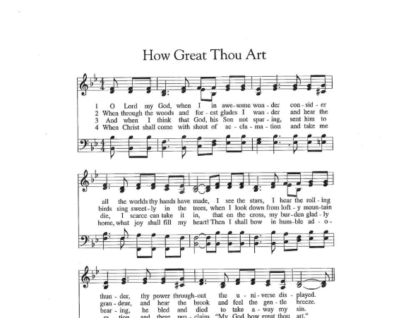 'How Great Thou Art' is the hymn of choice to inspire hope during Covid-19