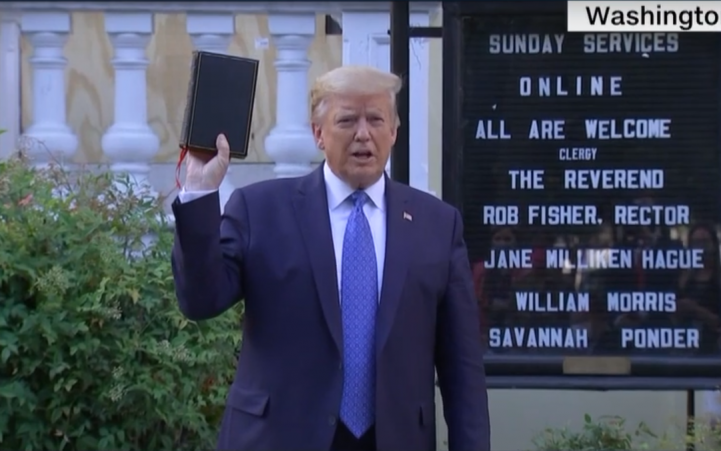 Trump is using the Bible as a defence but for Christians everywhere it is an offence
