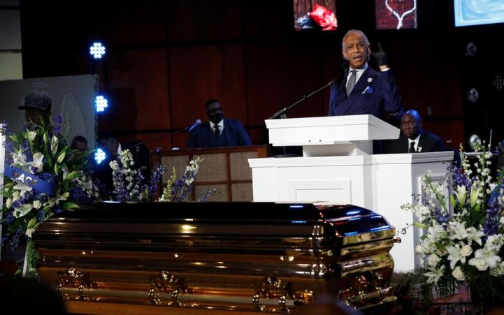 'Get your knee off our necks' - Rev Al Sharpton calls for change at George Floyd's memorial