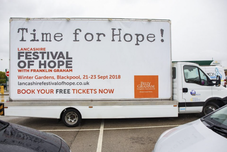 Judge Rules Blackpool Council and Transport Services Discriminated Against Franklin Graham and Christians by Pulling Ads for Evangelistic Events in Britain