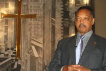 The Rev Jesse Jackson pauses during an address to black activists, ...