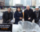 Ice sculptures at Canary Wharf highlight UK's homelessness problem